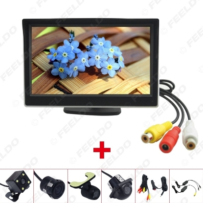 """Picture of 5"""" LCD TFT Stand-alone Monitor With Rear View Backup Camera RCA Video Rearview System 2.4G Wireless & Cigarette Lighter Optional"""