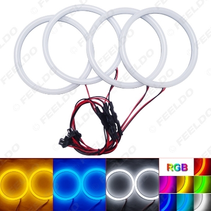 Picture of Car Xenon Cotton Angel Eyes Halo Ring Light For BMW E30/E32/E34 Headlight Car Styling
