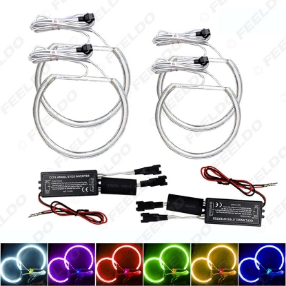 Picture of 4x Car Headlight CCFL Angel Eyes Light Halo Rings Kits For BMW E46 (NON projector) Car-Styling 6-Color