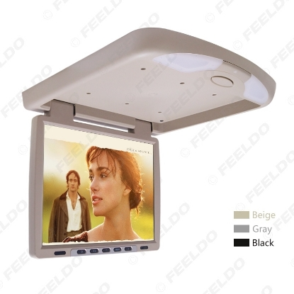 Picture of DC12V 14.1 Inch Car/Bus TFT LCD Roof Mounted Monitor Flip Down Monitor 2-Way Video Input 3-Color