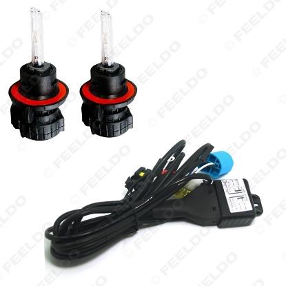 Picture of 2x Car HID Bulbs 9004/9007 Hi/Lo Bi-Xenon + Harness Xenon Replacement HID Bulbs AC Lamps