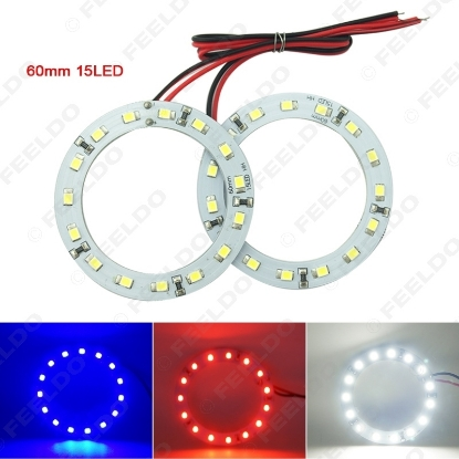 Picture of White color 3528SMD 15LEDs car angel eyes light(60mm)