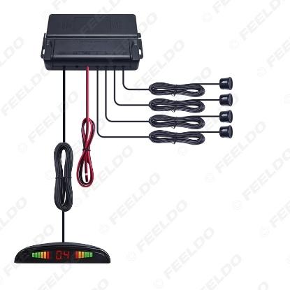 Picture of Car LED Backlight Display 22mm 4-Sensor Parking Sensor Reverse Backup Radar Kit System 10-Color 12V
