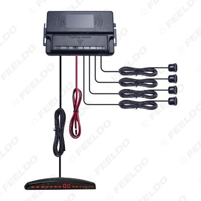 Picture of New 4-Sensor Car LED Display Parking Sensor Reverse Backup Radar Aid System