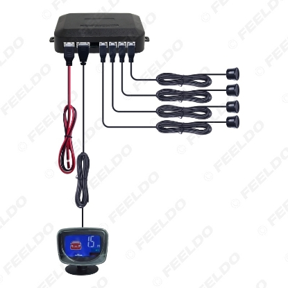 Picture of New Style Car LCD Monitor Display 4 Sensor Rear Parking Reverse Backup Radar