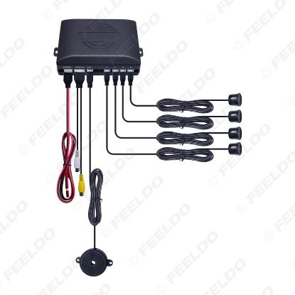 Picture of Car Original Flat 4-Sensor Car Video Rearview Visual Parking Sensor Backup Radar System