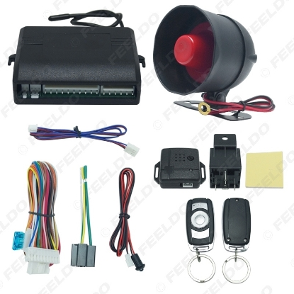 Picture of Car Alarm Security System Manual Reset Button Function Burglar Alarm Protection with 2 Remote Control
