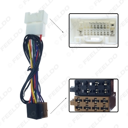 Picture of Car Stereo CD Radio Wiring Harness Conversion Plug Wire Adapter For Mitsubishi 2007+ To ISO Original Head Units Cable