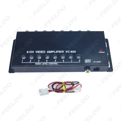 Picture of DC12V Car Auto 1 To 8 Output Video Signal Spliter Amplifier For DVD/LCD/TV Video Spliter