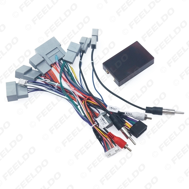 Picture of Car 16pin Audio Wiring Harness With Canbus Box For Honda Spirior Aftermarket Stereo Installation Wire Adapter