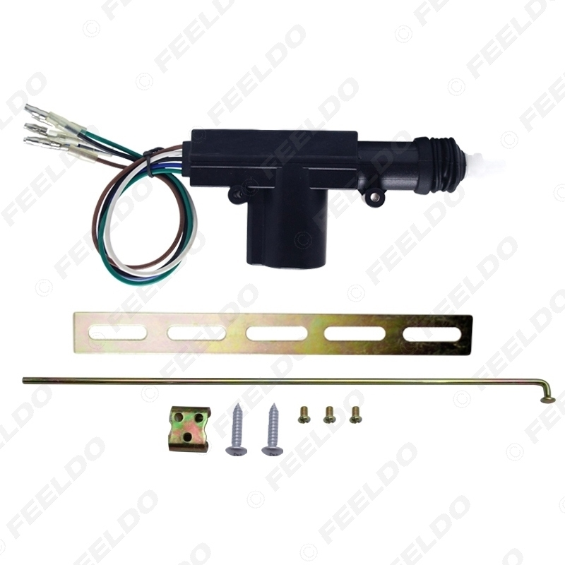 Picture of 5-Wire Car Central Lock System Single Gun Actuator Motor With Mounting Metal Kits