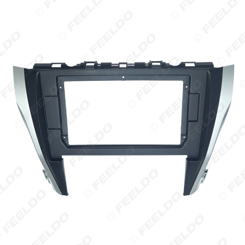 """Picture of Car CD/DVD Player Stereo 2Din Fascia Frame for Toyota Camry 2015 10.1"""" Big Screen Audio Face Dash Mount Trim Kit"""