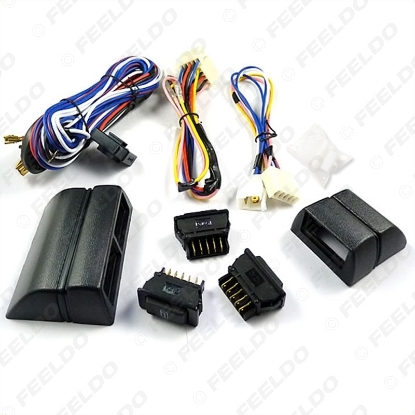 Picture of Universal power window 3pcs switches with Holder and wire Harness