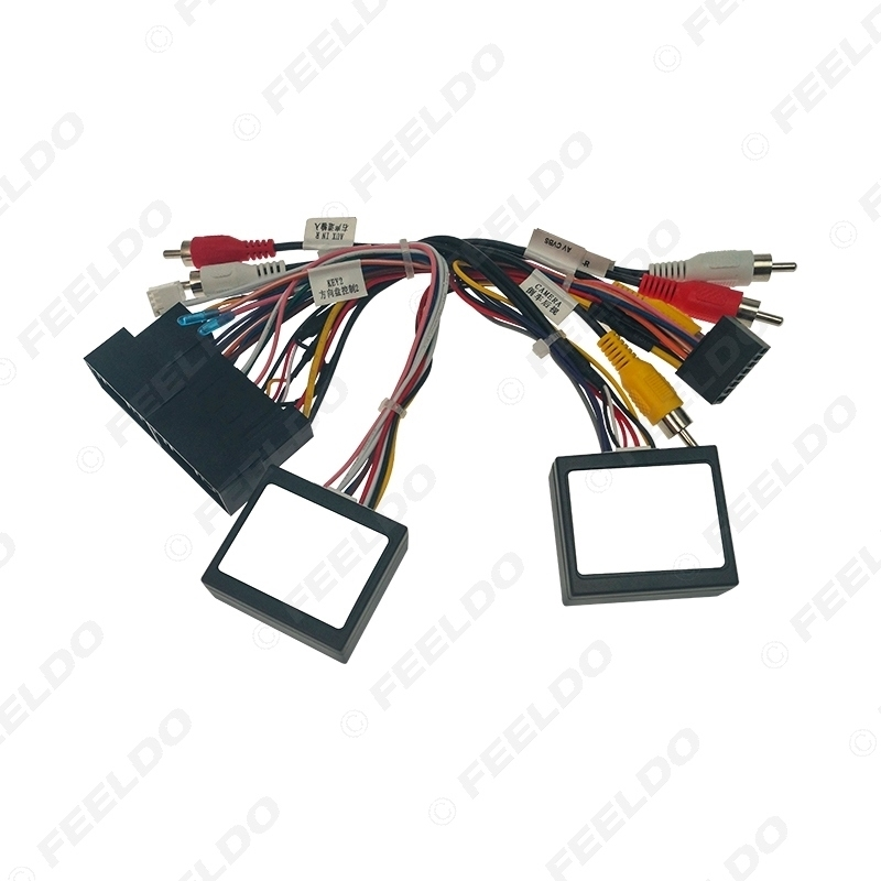 Picture of Car 16pin Audio Wiring Harness with 2 Canbus Boxes For Hyundai Santafe IX45 Support Amplifier Stereo Installation Wire Adapter