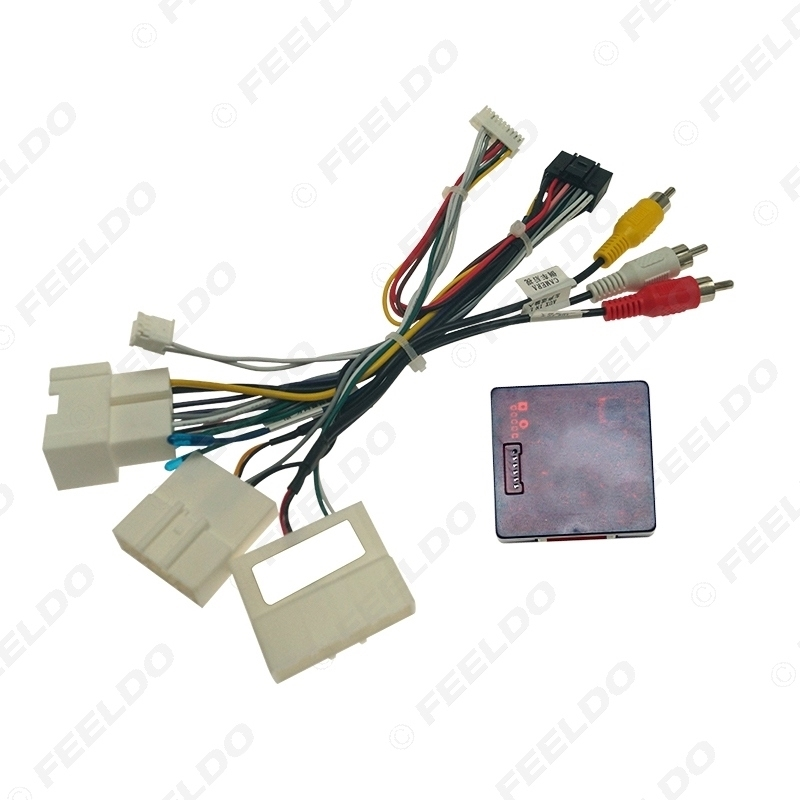Picture of Car Audio 16PIN DVD Player Power Calbe Adapter With Canbus Box For Renault Captur Kadjar 2015 Stereo Plug Wiring Harness
