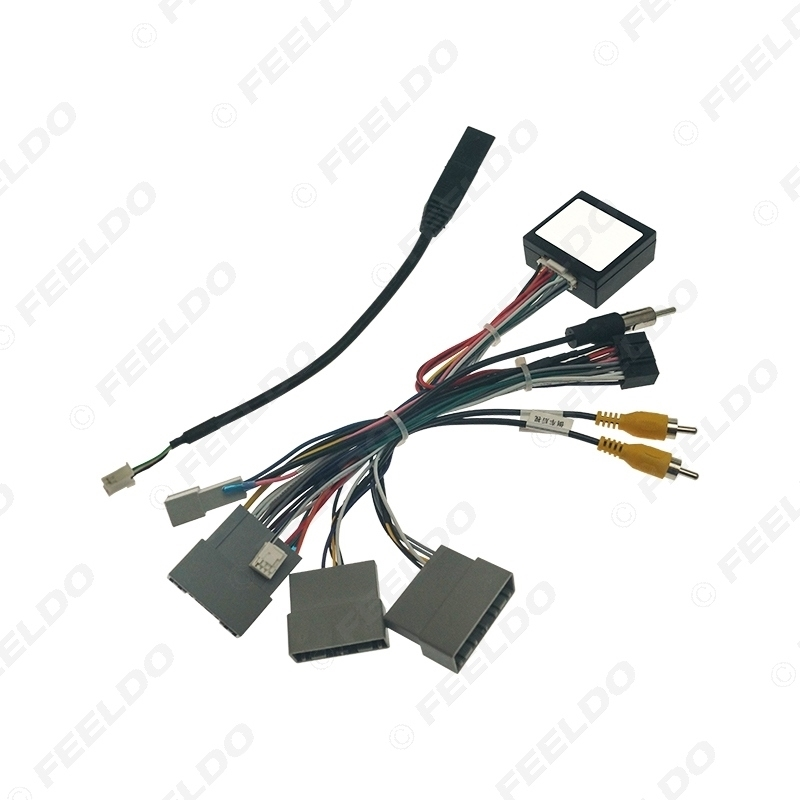 Picture of Car Audio 16PIN DVD Player Power Calbe Adapter With Canbus Box For Honda City Greiz Odyssey Stereo Plug Wiring Harness