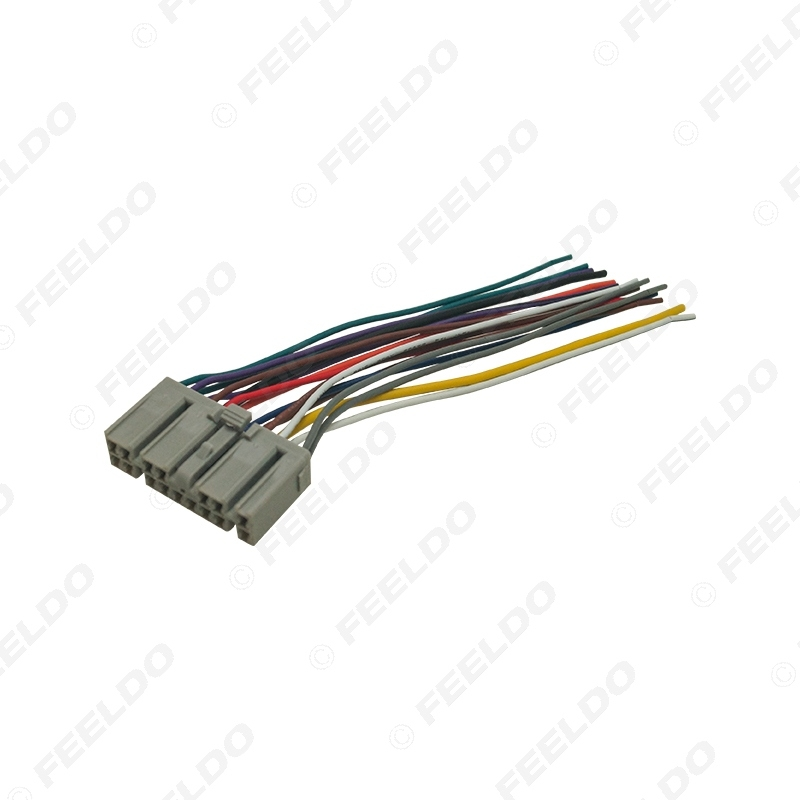 Picture of Car Audio 16Pin Wire Cable Plug Into Factory Radio DIN Female Wiring Harness for Isuzu Power Stereo Wiring Adapter