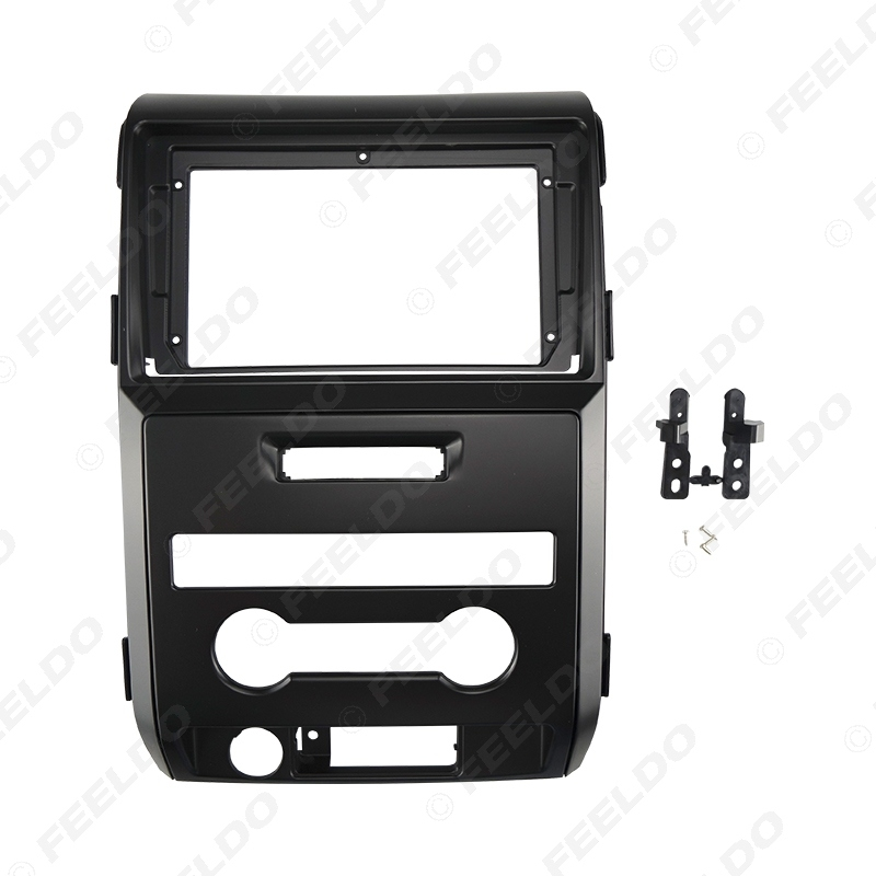 """Picture of Car Audio Fascia Frame Adapter For Ford F150 09-14 9"""" Big Screen 2DIN Dash Fitting Panel Frame Kit"""