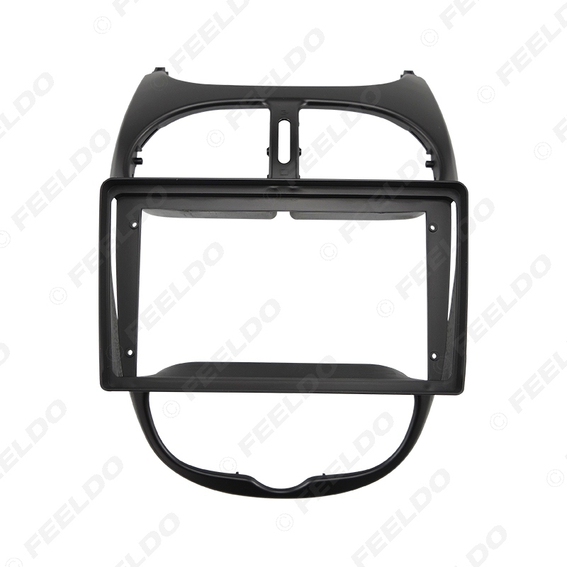 """Picture of Car Audio Fascia Frame Adapter For Peugeot 206 02-10 9"""" Big Screen 2DIN Dash Fitting Panel Frame Kit"""